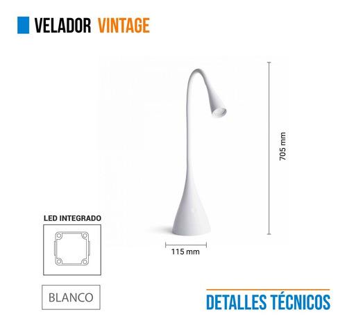 velador luminaria movil mesa brazo flexible 3,5w premium