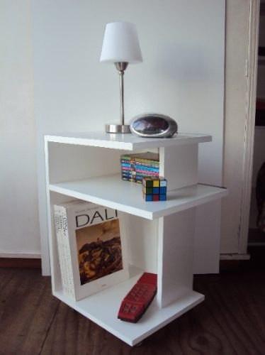 velador mesa de noche luz mueble 60x40x30