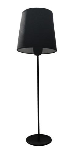 velador mesa grande negro pantalla tela deco vintage e27