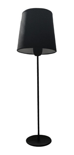velador mesa grande negro tela deco vintage e27 cuotas
