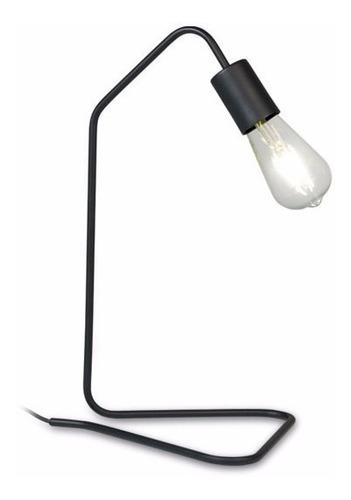 velador moderno 1 luz - caño doblado - triangulo