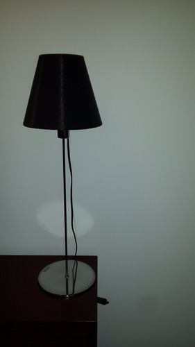 velador philips kegel negro lámpara de mesa - insei