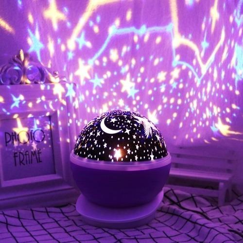velador proyector giratorio estrella unicornio led usb cuota