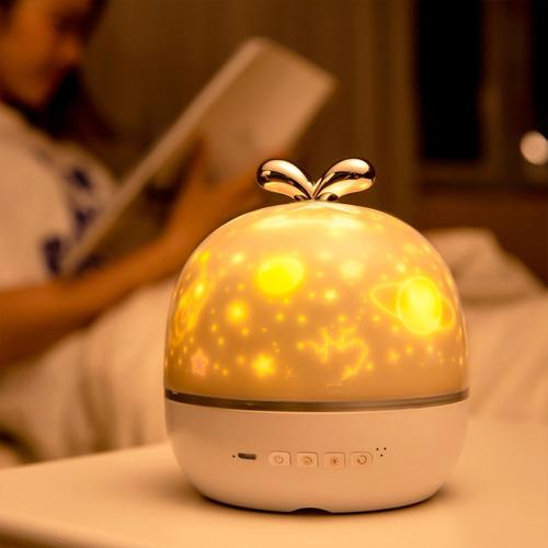 velador proyector led infantil lampara usb luz de noche