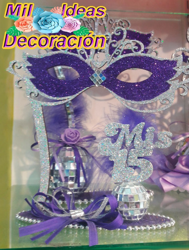 velador souvenirs fibrofacil decorado para 15 años