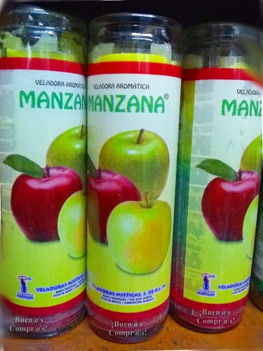 veladora aromática manzana - amor, protección y abundancia