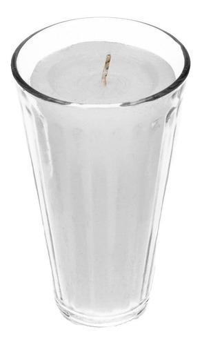 veladora limonero 100% parafina vaso grande 20 pzs