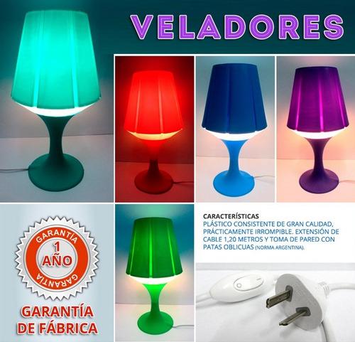 veladores color irrompibles originales gran calidad y diseño