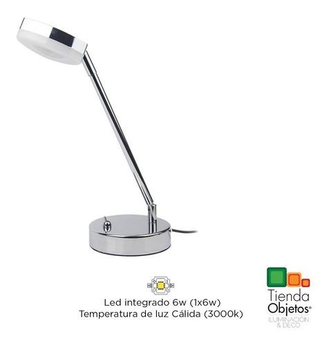 veladores moderno escritorio trion led 6w luz calida platil