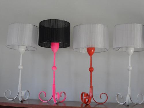veladores rusticos, variedad de colores