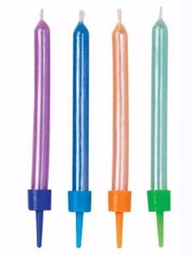 velas arcoiris, pastel, perladas y brillante wilton