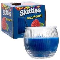 velas aromaticas skittles paquete con 4