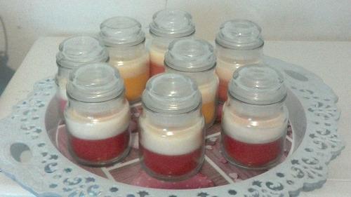 velas aromatizadoras frasco