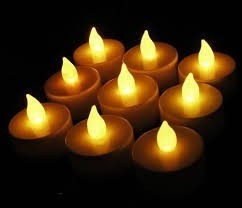 velas con luz led blanca calida intermit c/pilas (re barato)