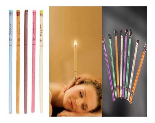 velas de cera para la limpieza del oido (25 pares)