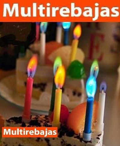 velas de cumpleaños de llamas de colores