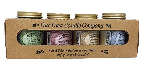 velas de jarra,4 paquete de navidad velas jar surtido mi..