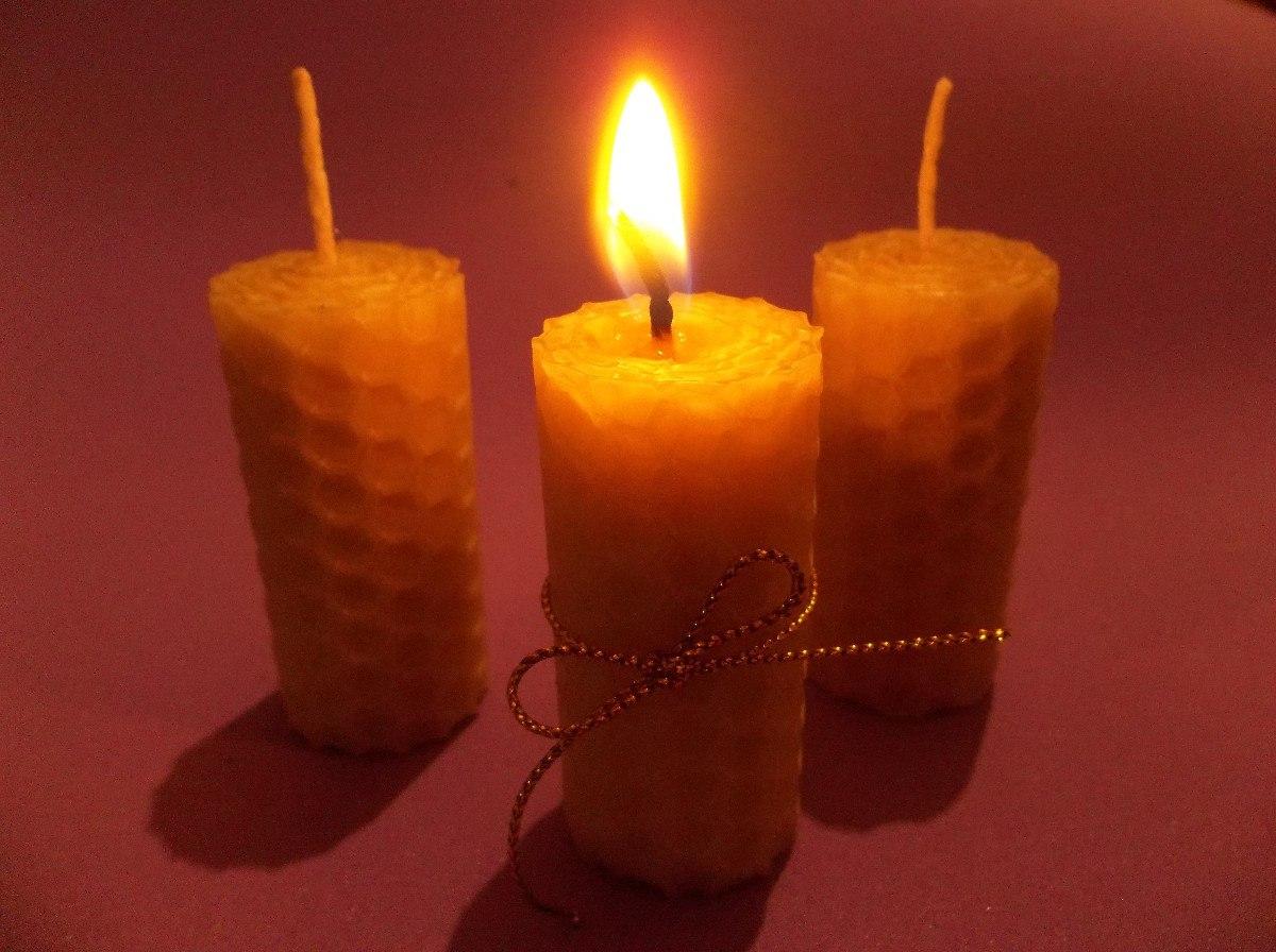 Velas de miel souvenir color natural artesanales 200 00 en mercado libre - Velas de miel ...