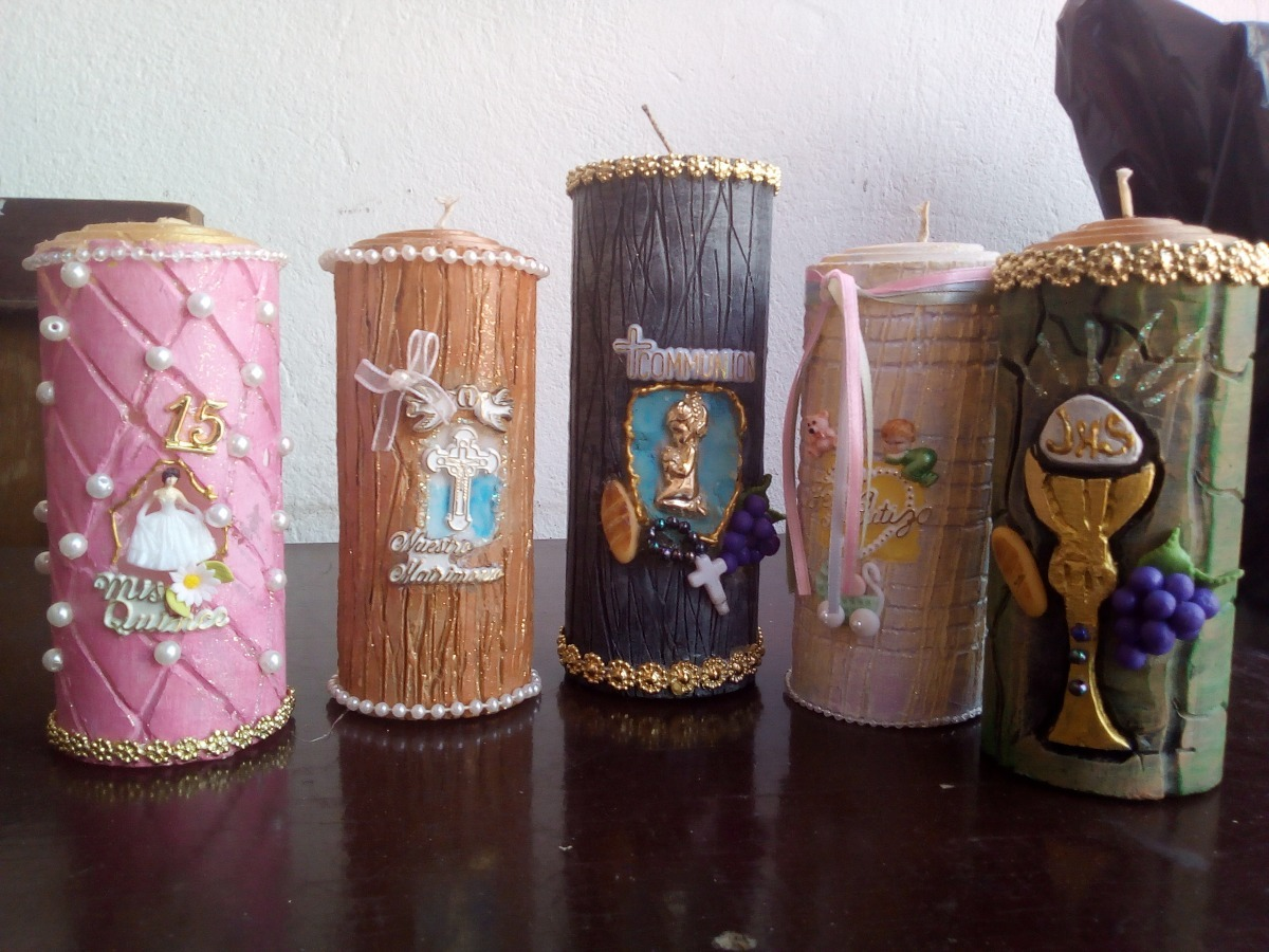 velas decoradas cargando zoom - Velas Decoradas