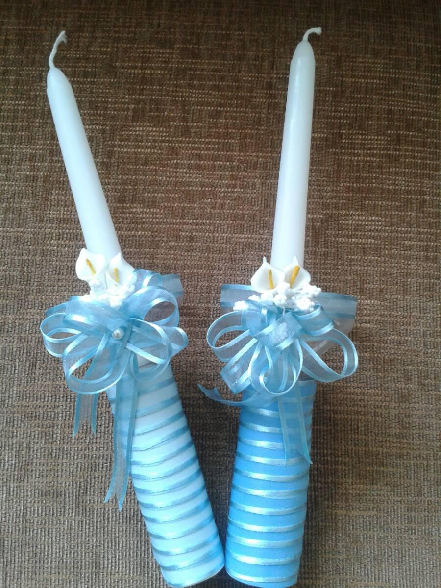 Velas decoradas para bautizo y comuni n bs for Decoracion de velas para bautizo