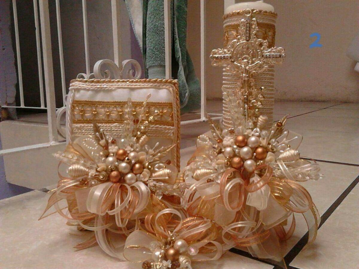 velas decoradas para primera comunin cargando zoom - Velas Decoradas