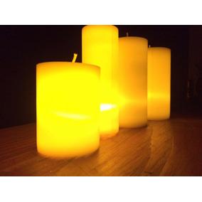 5eb24bccef1 40 Cirios Grandes Con Luz Led Ámbar Parafina Aromáticas