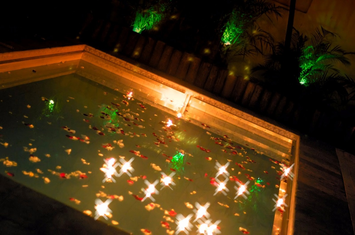 Velas decorativas flutuantes para piscina 50 unidades - Velas para piscinas ...