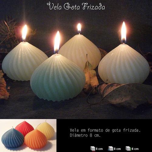 velas decorativas - kit com 5 gotas torcidas