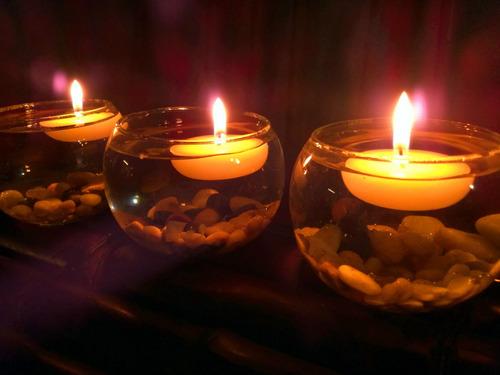 velas flotantes 50 piezas aluzza