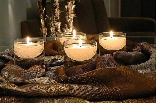 velas flutuantes para decorar vidros e piscinas 10 velas