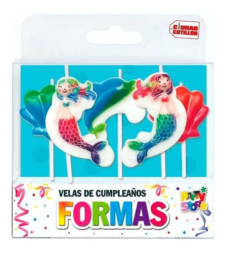 velas formas set sirenitas x 5 piezas cumpleaños - ciudad co