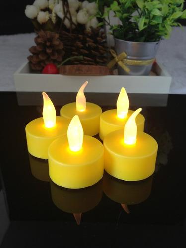 velas led  amarillas parpadeantes   decoracion eventos