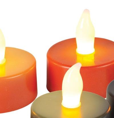 velas led  amarillas parpadeantes  paquete de 4 piezas