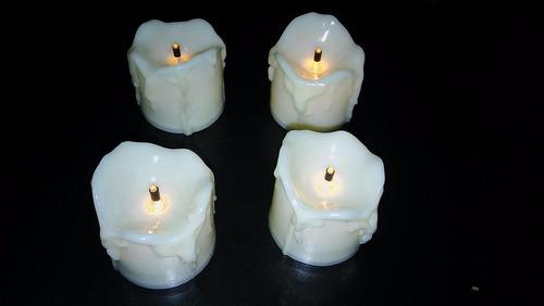 velas led cálidas decorativas