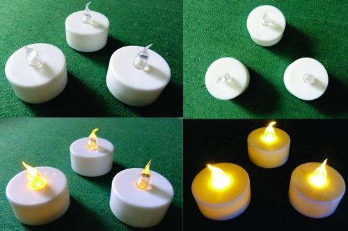 velas led efecto vela real titila baterías incluid 3 y 5 cm