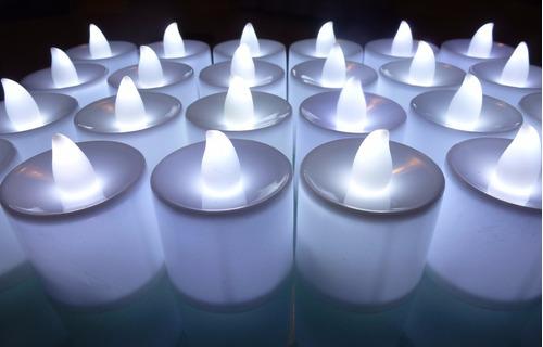 velas led luz cálida o luz blanca