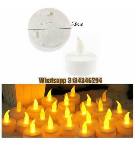 velas led pompones papel luces velas