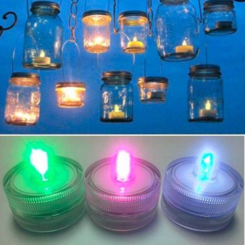 velas led sumergibles luminosas centro mesa rgb multicolor