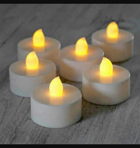 velas led x 36 unidades luz cálida llama pila incluida envio