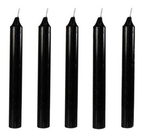 velas negras set de 5 envio gratis + mas inciensos de regalo