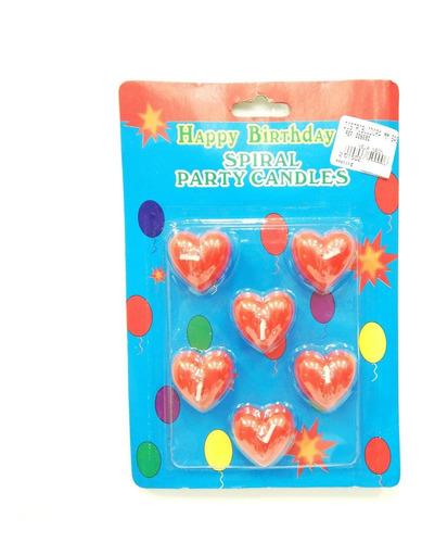 velas neón figuras corazón x6und fiestas  cumpleaños