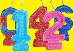 velas numero con gibre y pabilo mágico x 10 unidades - velas