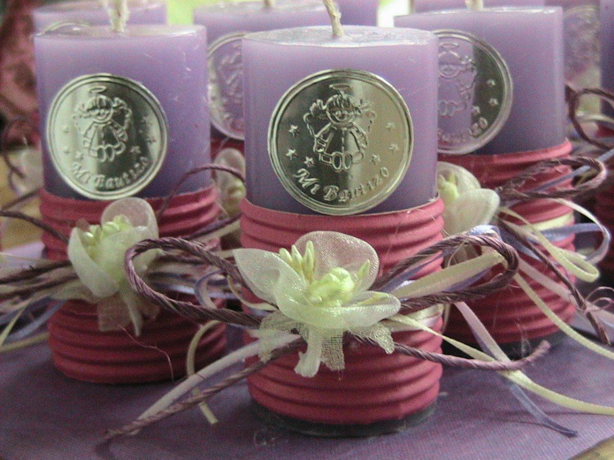 Velas personalizadas para bautizo en mercado libre for Decoracion de velas para bautizo