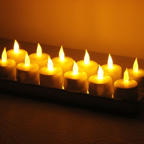 velas recargables luz led 12 pzas luz cálida envío gratis