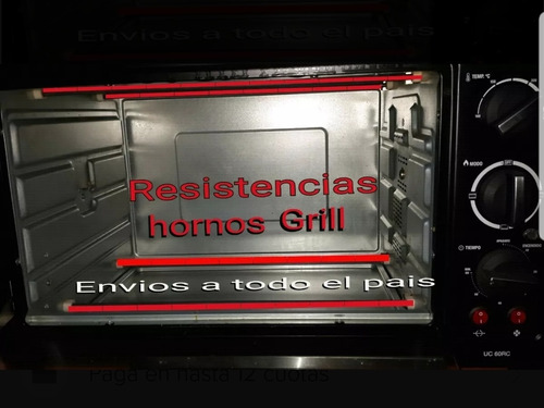 velas resistencias  horno electrico grill 36 cm