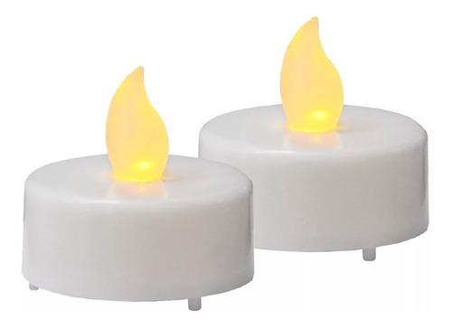 velas velitas led blanca calida pila incluida decoracion !!