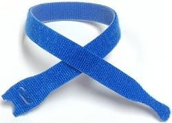 velcro® brand one-wrap® strap 1/2 pulgada x 8 pulgadas azul