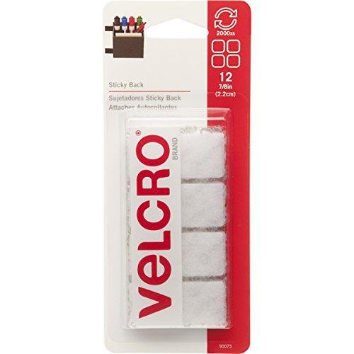 velcro marca - sticky back - 7/8 \cuadrados, 12 conjuntos -