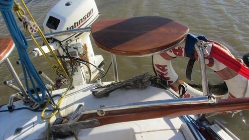 velero dangelo 24 con johnson 15 hp