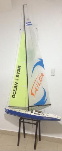 velero rc 2.2 metros excelente estado listo para usar